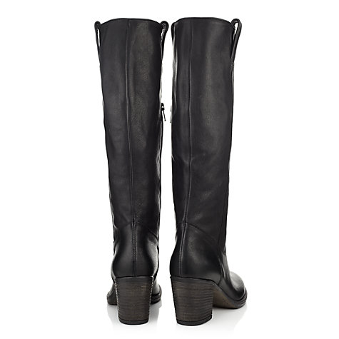 Buy Jigsaw Marylebone Leather Block Heel Knee Boots Online at johnlewis.com