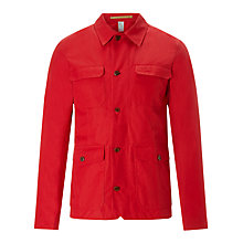 Buy JOHN LEWIS & Co. Made in England Ventile Work Wear Jacket, Red Online at johnlewis.com