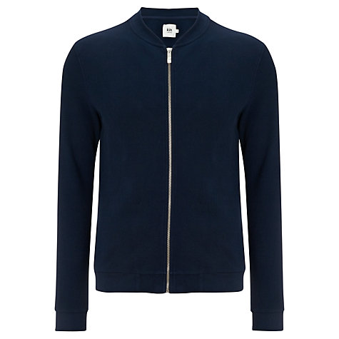 Buy Kin by John Lewis Pique Baseball Jacket, Navy Online at johnlewis.com