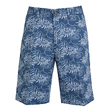 Buy John Lewis Printed Chino Shorts, Dark Blue Online at johnlewis.com