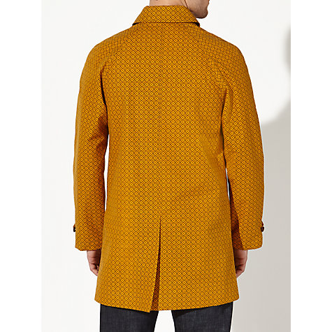 Buy JOHN LEWIS & Co. Made in England Geo Cross Print Ventile Mac, Gold Online at johnlewis.com