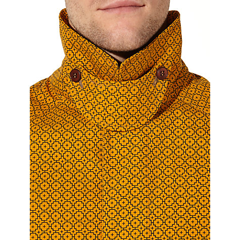 Buy JOHN LEWIS & Co. Made in England 150 Years Geo Cross Print Ventile Mac, Gold Online at johnlewis.com