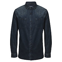 Buy JOHN LEWIS & Co. Vintage Denim Shirt, Indigo Online at johnlewis.com
