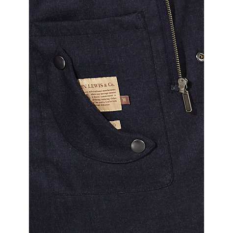 Buy JOHN LEWIS & Co. Made in England Waterproof Mac, Navy Online at johnlewis.com