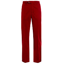 Buy John Lewis Wrinkle Free Flat Front Trousers, Red Online at johnlewis.com