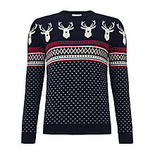 Buy John Lewis Save The Children Christmas Jumper, Navy Online at johnlewis.com
