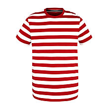 Buy John Lewis Organic Breton Stripe Short Sleeve T-Shirt Online at johnlewis.com