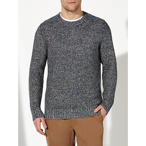 Buy JOHN LEWIS & Co. Moss Stitch Linen Crew Neck Jumper Online at johnlewis.com