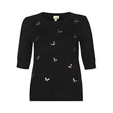 Buy NW3 by Hobbs Butterfly Jumper, Black Online at johnlewis.com
