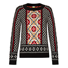 Buy NW3 by Hobbs Helen Jumper, Black Multi Online at johnlewis.com