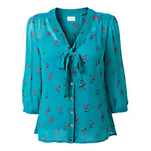 Buy East Floral Blouse, Peacock Online at johnlewis.com