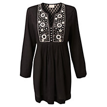 Buy East Shisha Embroidered Tunic Top, Black Online at johnlewis.com