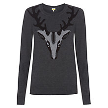 Buy NW3 by Hobbs Stag Jumper, Grey Melange Multi Online at johnlewis.com