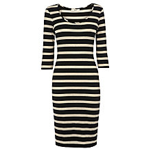 Buy Oasis Sparkle Stripe Dress, Multi Natural Online at johnlewis.com