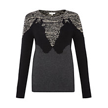 Buy Hobbs Talia Jumper, Black Multi Online at johnlewis.com