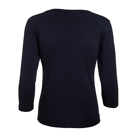 Buy Betty Barclay Black Scoop Neck T-shirt, Black Online at johnlewis.com