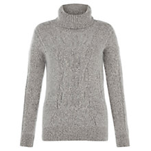 Buy Hobbs Caitlin Jumper, Grey Melange Multi Online at johnlewis.com