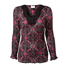 Buy East Geometric Top, Berry Online at johnlewis.com