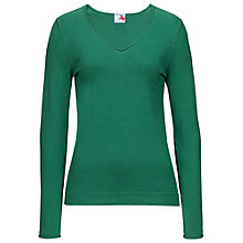 Buy Betty Barclay Fine V Neck Jumper, New Spring Green Online at johnlewis.com