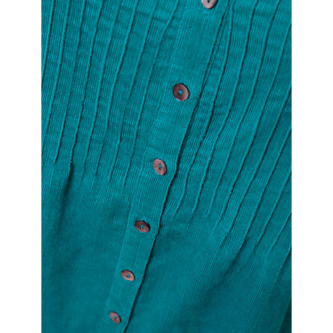 Buy East Cord Pintuck Dress, Peacock Online at johnlewis.com