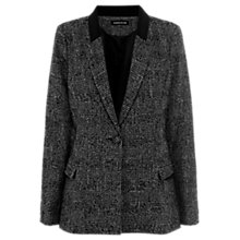 Buy Warehouse Checked Boyfriend Jacket, Dark Grey Online at johnlewis.com