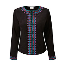 Buy East Hira Embroidered Jacket, Black Online at johnlewis.com