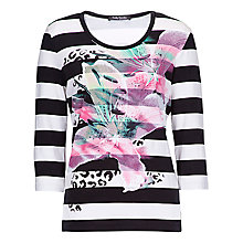 Buy Betty Barclay Bold Orchid Tee, Black/Cream Online at johnlewis.com