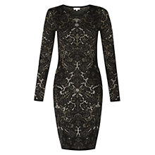 Buy Hobbs Invitation Chantal Dress, Black Online at johnlewis.com