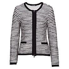 Buy Betty Barclay Textured Jacket, Black/Cream Online at johnlewis.com