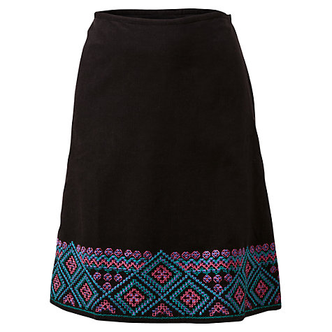 Buy East Hira Embroidered Skirt, Black Online at johnlewis.com
