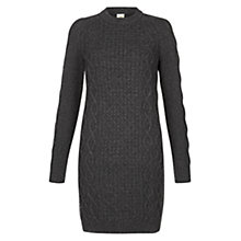 Buy NW3 by Hobbs Eleanor Jumper Dress, Winter Grey Marl Online at johnlewis.com