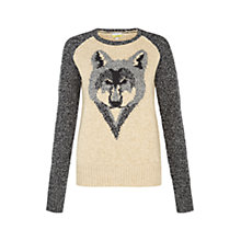 Buy NW3 by Hobbs Wolf Jumper, Natural Online at johnlewis.com
