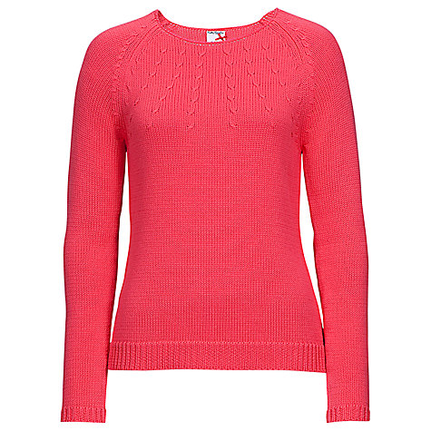 Buy Betty Barclay Chunky Knitted Jumper, Coral Red Online at johnlewis.com