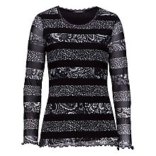Buy Betty Barclay Long Sleeve Paisley Tee, Black/Cream Online at johnlewis.com