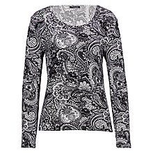 Buy Betty Barclay Paisley Scoop Tee, Black/Cream Online at johnlewis.com