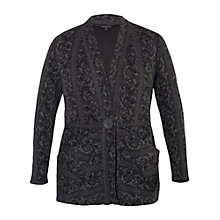 Buy Chesca Rose Jacquard Cardigan, Charcoal Online at johnlewis.com
