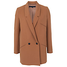 Buy French Connection Lisettta Blazer, Dark Winter Camel Online at johnlewis.com