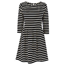 Buy Oasis Stripe Dress, Multi Black Online at johnlewis.com