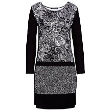 Buy Betty Barclay Paisley Dress, Black/Cream Online at johnlewis.com