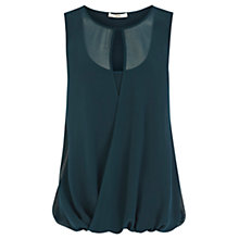 Buy Oasis Wrap Front Top, Mid Blue Online at johnlewis.com
