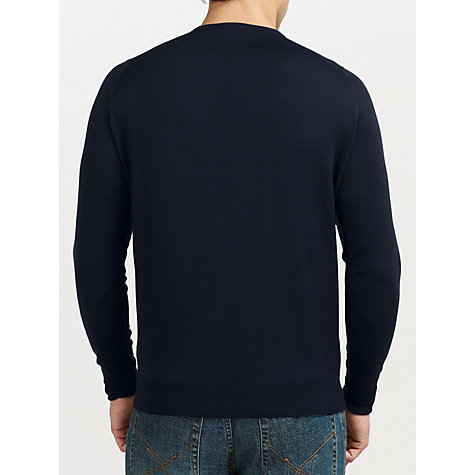 Buy John Smedley Marcus Merino Wool Jumper, Midnight Online at johnlewis.com