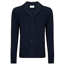 Buy John Smedley Gowan Merino & Cashmere Cardigan, Midnight Online at johnlewis.com