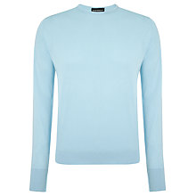 Buy John Smedley Lyndhurst Sea Island Cotton Jumper, Lunar Blue Online at johnlewis.com