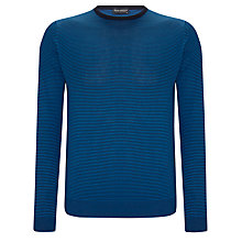 Buy John Smedley Emerson Merino Wool Jumper, Shadow Blue Online at johnlewis.com