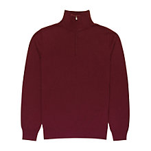 Buy Reiss Harvey Merino Wool Zip Neck Jumper Online at johnlewis.com