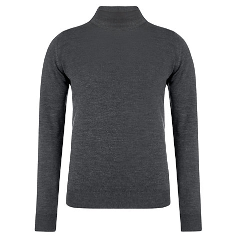 Buy John Smedley Richards Merino Wool Jumper, Charcoal Online at johnlewis.com