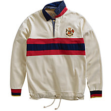 Buy Joules Nautical Rugby Jersey, Creme Online at johnlewis.com