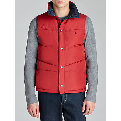 Buy Joules Kelmarsh Puffer Gilet, Red Online at johnlewis.com