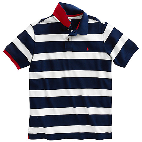 Buy Joules The Filbert Polo Shirt, Navy/White Online at johnlewis.com