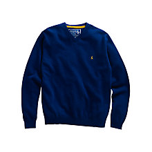 Buy Joules Retford V-Neck Wool Blend Jumper, Blue Online at johnlewis.com